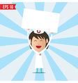 Cartoon nurse showing white board - - eps10 vector