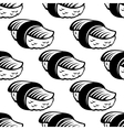 Sushi seamless pattern in sketch style vector