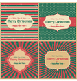 Retro greeting cards vector