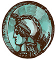 Greek old coin vector