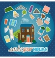 Make your house - night version vector