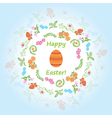 Light blue background - happy easter vector