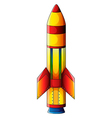 A colorful explosive bomb vector