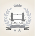 Grunge london icon laurel weath vector