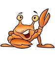 Happy crab vector