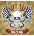 Retro rock background vector