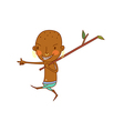 Ethnic boy walking vector
