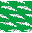 Green crocodile seamless pattern vector