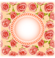 Background with roses and lace vector