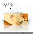 Invitation card design template vector