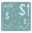 Background with dollar vector