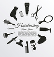 Hairdressing vector