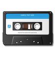 Realistic cassette tape vector