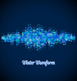 Christmas music waveform made of different vector