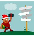 Young santa claus choice of direction vector