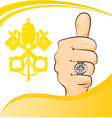 Pope thumb-up symbol vector
