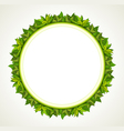 Green leaves round frame vector