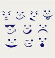 Set of smileys vector