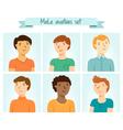 Male avatars set vector