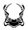 Heraldic laurel wreath vector