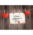 Retro holiday mother day background with red paper vector
