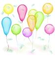 Set of balloons on white vector