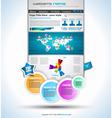 Complex website template vector