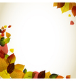 Autumn abstract floral background vector
