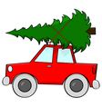 Car carrying tree vector