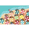 Summer beach in flat design sea side and beach vector