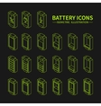 Battery web line icons symbol sign and design vector