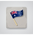 Australia flag icon vector