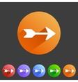 Flat arrow icons vector