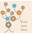 Abstract tree with round decorative elements vector