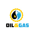 Oil and gas industry iluustration vector