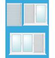 Plastic window with jalousies vector