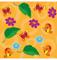 Seamless flowers and butterflies vector