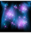 Glowing rays and stars vector