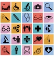 Collection flat icons with long shadow medicine vector