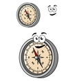 Magnetic compass with a smiley face vector
