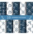 Summer seamless pattern set vector