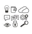 Set of black icons vector