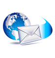 Email sms mailing the world vector