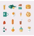 Food icons - flat style vector