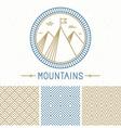 Mountain design kit vector