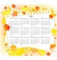 Autumn 2011 calendar template vector