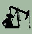 Pump jack sihouette vector