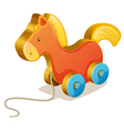 Wooden toy vector