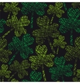 St patricks day vintage seamless clover pattern vector