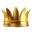Royal golden crown vector